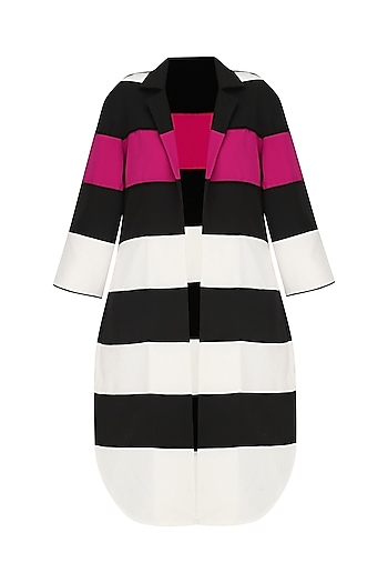 Black, White and Shocking Pink Cruella Jacket by Sameer Madan