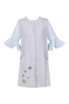 Blue and White Takai Jacket Dress by Sameer Madan