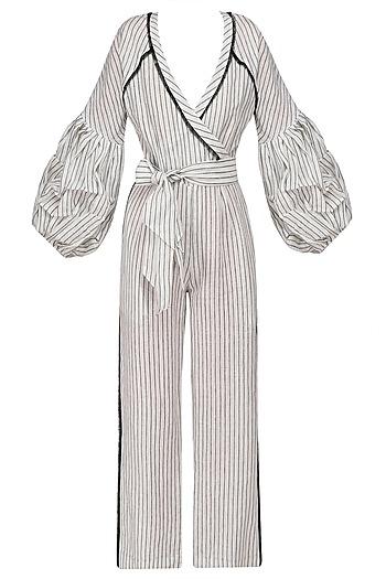 Monochrome Gypsy Jumpsuit by Sameer Madan