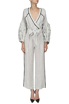Monochrome Gypsy Jumpsuit by Sameer Madan