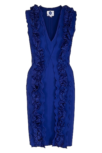Blue Bodycon Dress by Sameer Madan