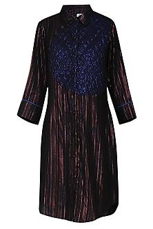 Multicolor Knee Length Dress by Sameer Madan
