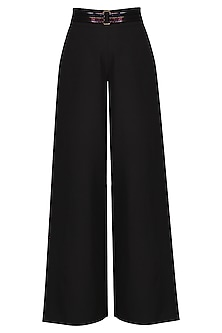 Black High Waisted Trousers by Sameer Madan