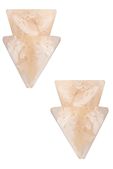 Pearl Gawa Triple Layered Trinity Earrings by Sameer Madan