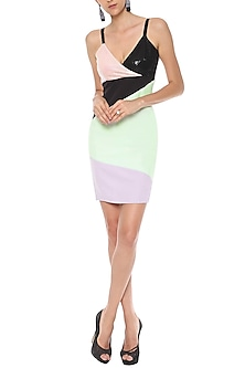 Multi-Colour Bodycon Dress by Sameer Madan