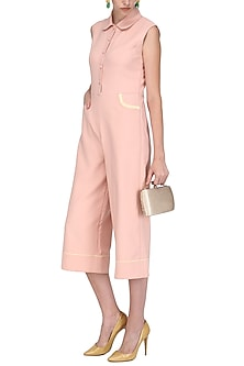 Pink Sleeveless Race Track Style Jumpsuit by Sameer Madan