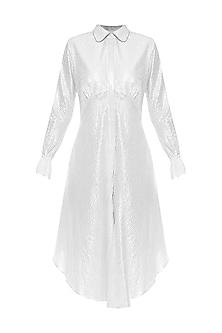 Silver Dust Knee Length Shirt Dress by Sameer Madan