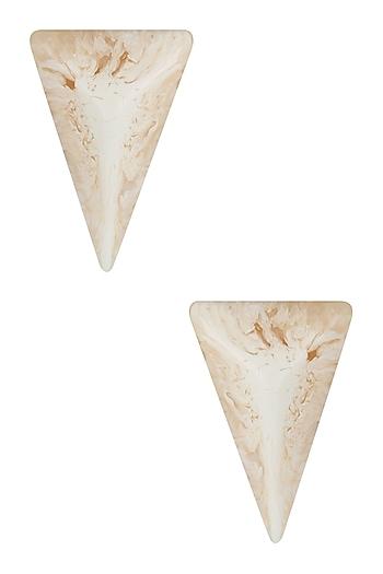 Pearl Gawa Pyramid Earrings by Sameer Madan