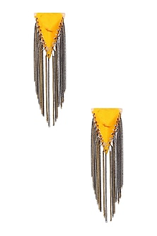 Aureolin Gawa Chain Earrings by Sameer Madan