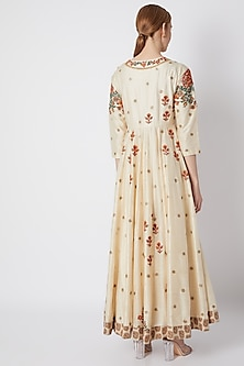 Nude Embroidered & Printed Kurta Set by Debyani