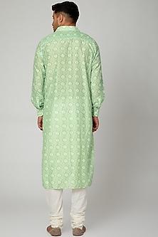 Green Printed Shirt Kurta by Devanshi Didwania