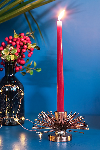 Copper Metal Candle Holder by The 7 Dekor