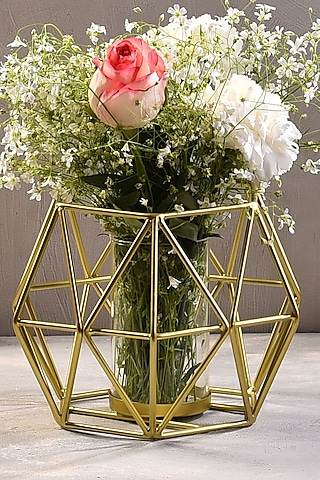 Gold Metal Candle Stand Set (Set of 2) by The 7 Dekor