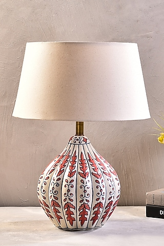 Pink Ceramic Table Lamp With Shade by The 7 Dekor