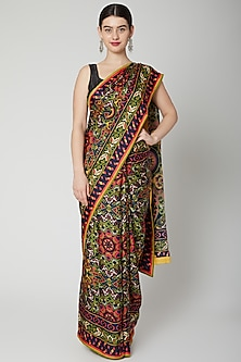 Multi Colored Printed Saree Set by Dev R Nil