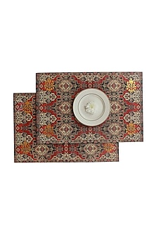 Multicolor Wooden Kama Table Mats (Set of 6) by Karo