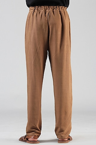 Bronze Pajama Pants With Drawstrings by Dhatu Design Studio