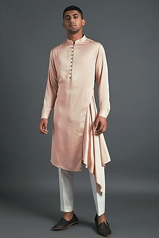 Blush Pink Kurta Set by Dhruv Vaish