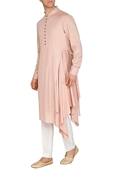 Sandrose Draped Kurta Set by Dhruv Vaish