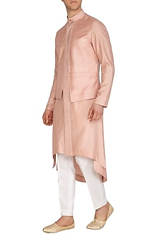 Sandrose Embroidered Hybrid Kurta Set by Dhruv Vaish
