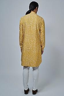Marigold Yellow Printed Kurta Set by Dhruv Vaish