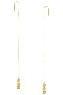 Matte Gold Plated Ladoo Chain Earrings by Dhora