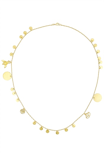 Matte Gold Plated Ladoo Charm Necklace by Dhora