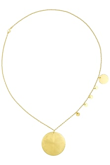 Matte Gold Plated Ladoo Play Chain Necklace by Dhora