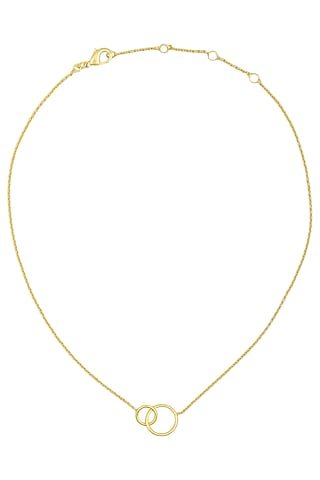 Matte Gold Plated Entangled Necklace by Dhora