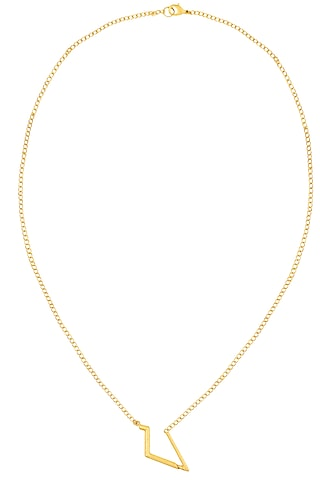 Gold Finish Geo Design Statement Necklace by Dhora