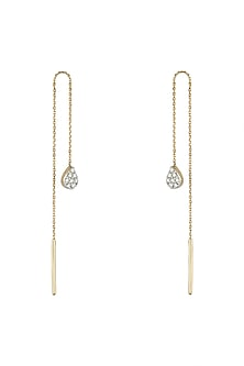 Gold & Lab Grown Diamond Ear Chains by Diai Designs