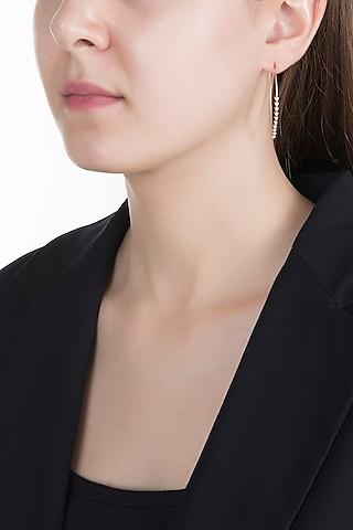 Gold & Lab Grown Diamond Hoop Earrings by Diai Designs