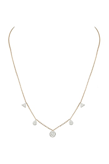 Rose Gold Diamond Chain Necklace by Diai Designs