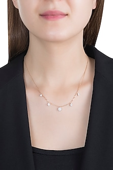 Rose Gold & Lab Grown Diamond Chain Necklace by Diai Designs