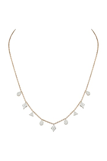 Rose Gold Diamond Necklace by Diai Designs