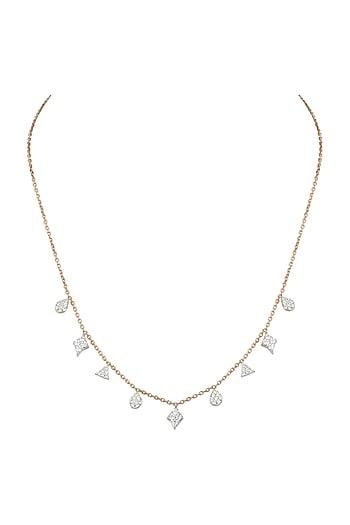 Rose Gold & Lab Grown Diamond Necklace by Diai Designs