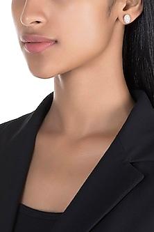 Rose Gold Diamond Statement Stud Earrings by Diai Designs