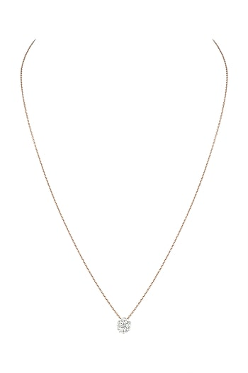 Rose Gold Diamond Pendant Necklace by Diai Designs
