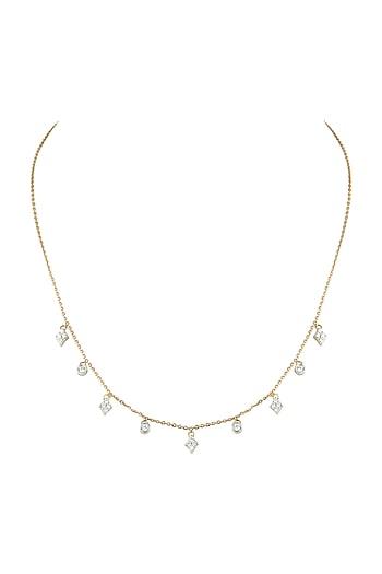 Gold & Lab Grown Diamond Necklace by Diai Designs