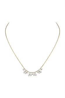 Gold Diamond Choker Necklace by Diai Designs