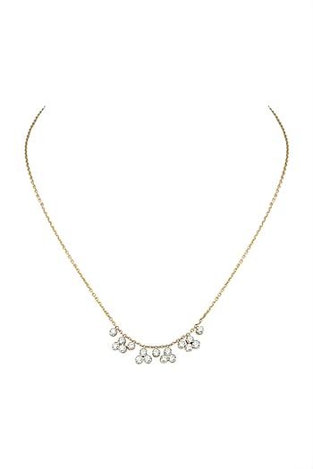 Gold & Lab Grown Diamond Choker Necklace by Diai Designs