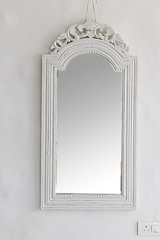 Vintage Mirror In White by I Heart Homez