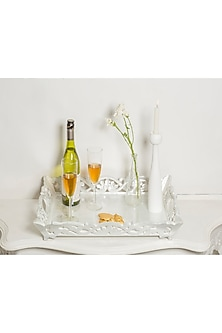Silver Wooden Vintage Tray by I Heart Homez
