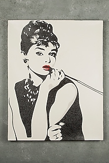 Beautiful Audrey Hepburn Painting by I Heart Homez