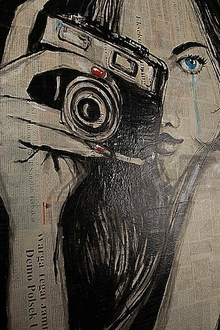 Feel The Paparazzi Newspaper Painting by I Heart Homez