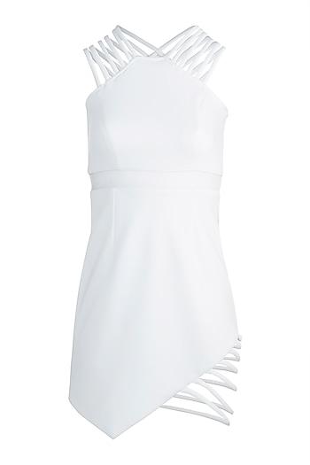 White String Dress by Disha Kahai