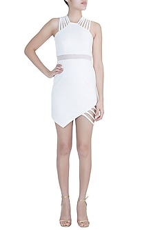 White String Dress by Disha Kahai