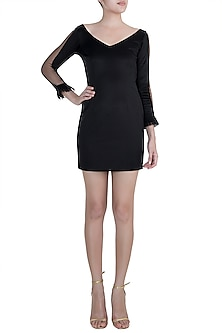 Black Scuba Dress by Disha Kahai