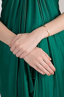 Gold Plated Moonstone Bangle by Diane Singh