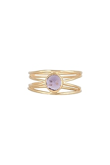 Gold Plated Amethyst Ring by Diane Singh